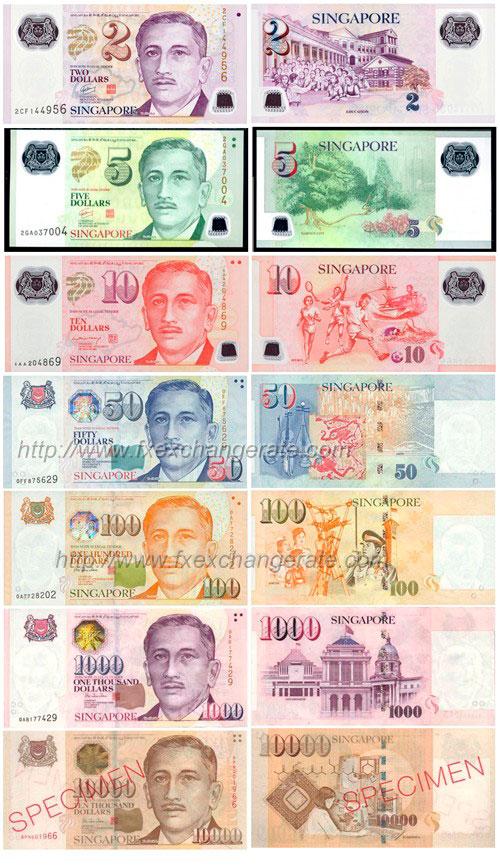 купюры Сингапура