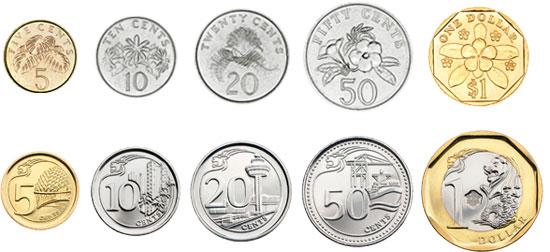 сингапурские монеты