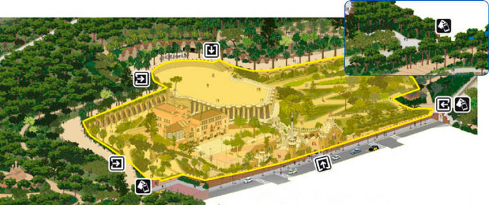 карта Парка Гуэля