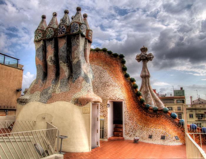 на крыше Дома Бальо