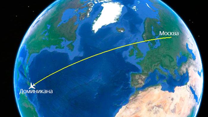 Прямой перелет из Москвы до Доминиканы