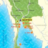 Карта Таиланда: географические особенности солнечной страны